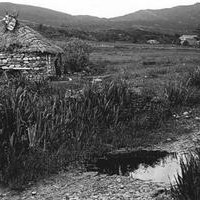 House in what is now the swamp below Balnagowan house